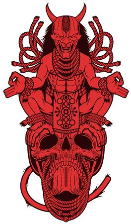 Oni monkey Meditation On the skull