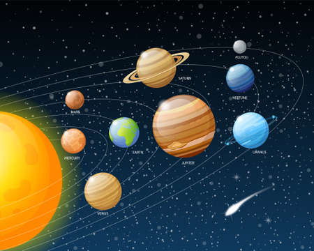 Planets Solar System - Beautiful illustration.