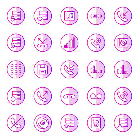 Gradient color outline icons for devices.