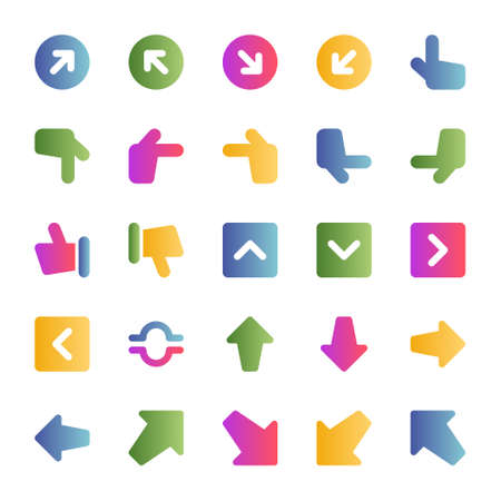 Gradient color icons for sign & symbol.