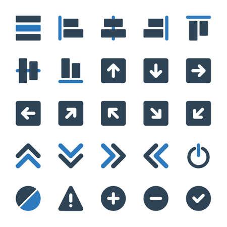 Two color icons for sign & symbol. Ilustración de vector