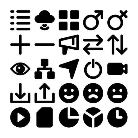 Black glyph icons for social media.