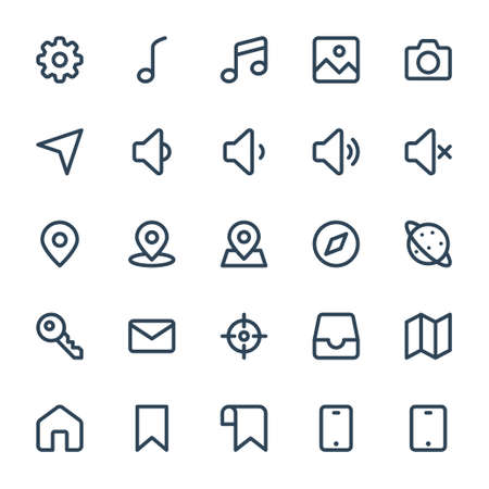 Outline icons for web & mobile,