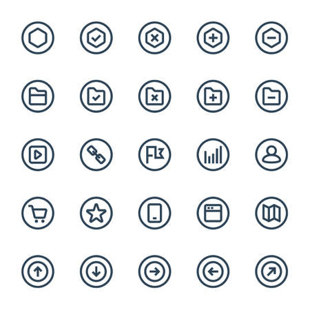 Badge outline icons for ui ux.