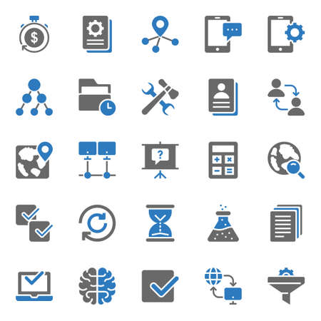 Two color icons for seo & web. 일러스트