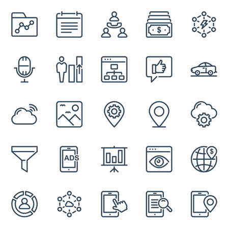 Outline icons for seo & web.