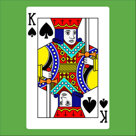 Flat color icon for poker card.