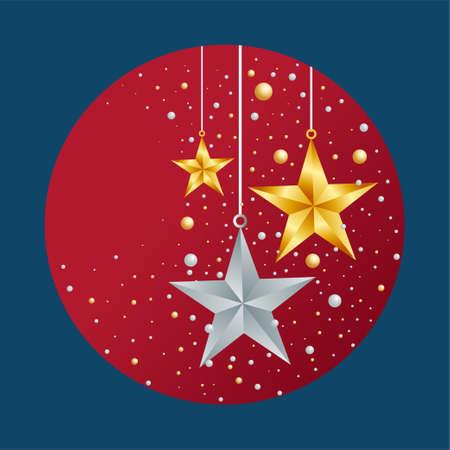 Merry christmas greeting illustration.