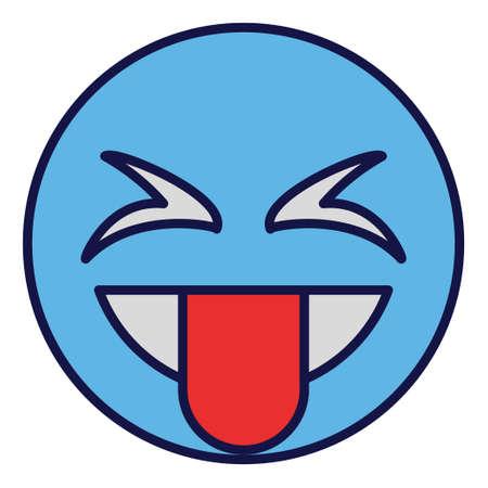 Filled color outline icon for emoji face.