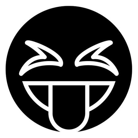Glyph icon for emoji face.