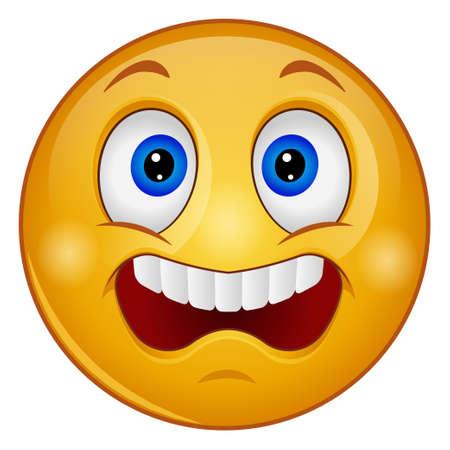 Gradient color icon for emoji face. Vektorgrafik