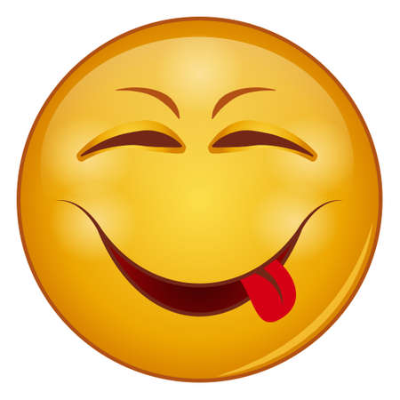 Gradient color icon for emoji face. Ilustração Vetorial