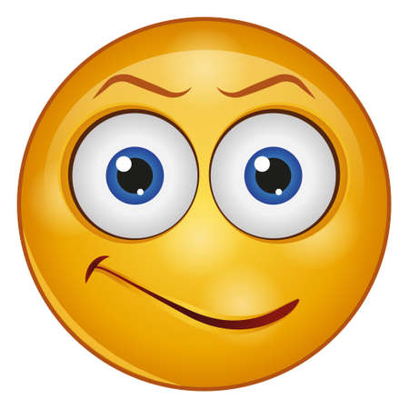 Gradient color icon for emoji face. Vetores