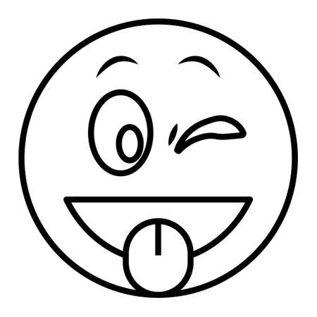 Outline icon for emoji face.