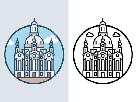 World famous building - Frauenkirche Dresden