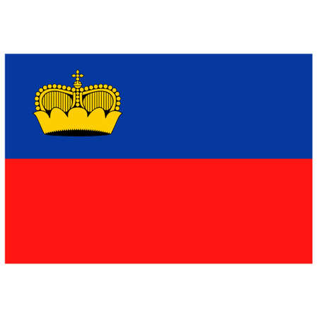 National flag of Liechtenstein - Flat color icon.