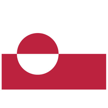 National flag of Greenland - Flat color icon.