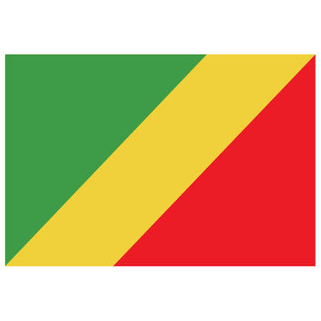 National flag of Congo, Republic - Flat color icon.