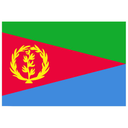 National flag of Eritrea - Flat color icon.