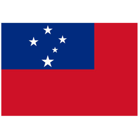 National flag of Samoa - Flat color icon. 版權商用圖片 - 159599238