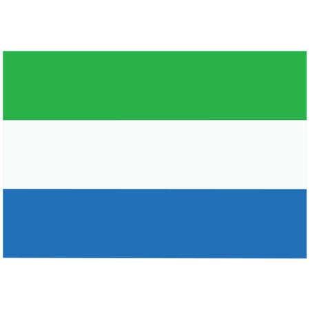 National flag of Sierra Leone - Flat color icon.