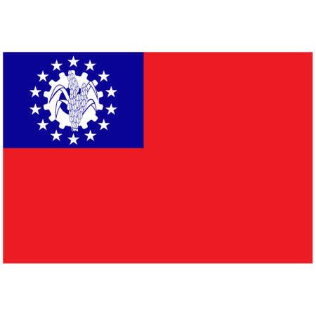 National flag of Myanmar Burma - Flat color icon. 版權商用圖片 - 159599336