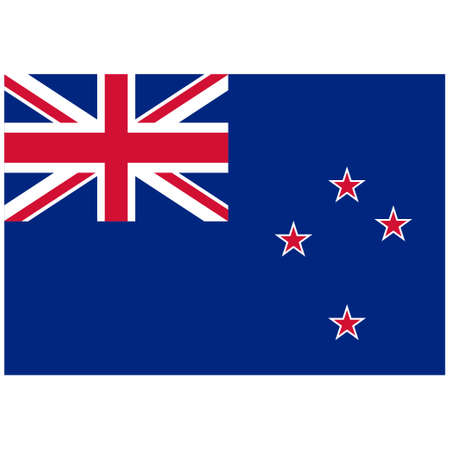 National flag of New Zealand - Flat color icon.