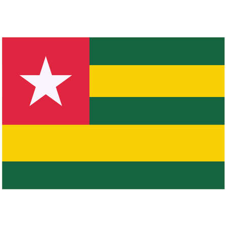 National flag of Togo - Flat color icon.