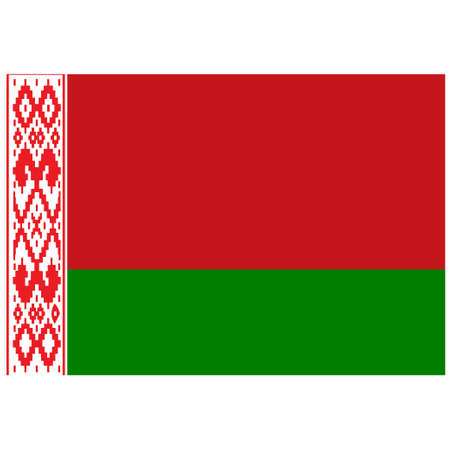 National flag of Belarus - Flat color icon.