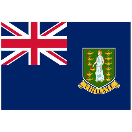 National flag of Virgin Islands UK - Flat color icon.