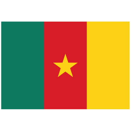 National flag of Cameroon - Flat color icon. Vettoriali