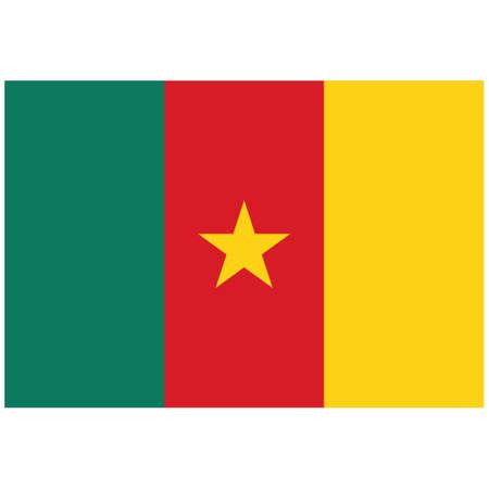 National flag of Cameroon - Flat color icon. Ilustração