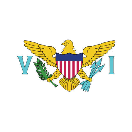 National flag of Virgin Islands US - Flat color icon. Illusztráció