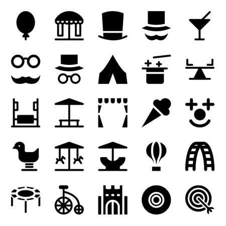 Glyph icons for carnival party.