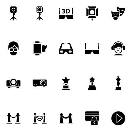 Glyph icons for cinema.