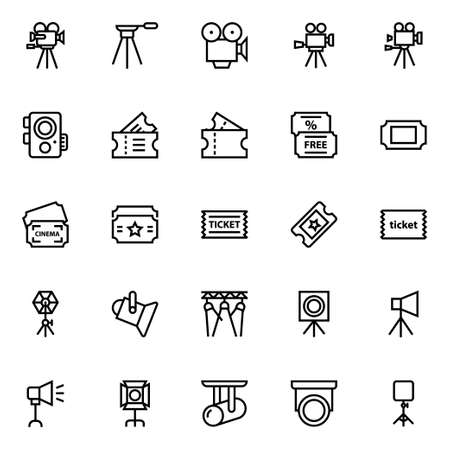 Outline icons for cinema.