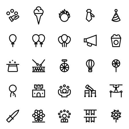Outline icons for circus.