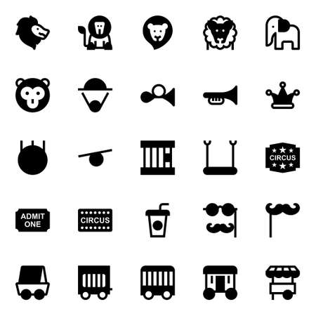 Glyph icons for circus.
