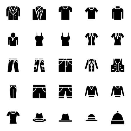 Glyph icons for clothes.