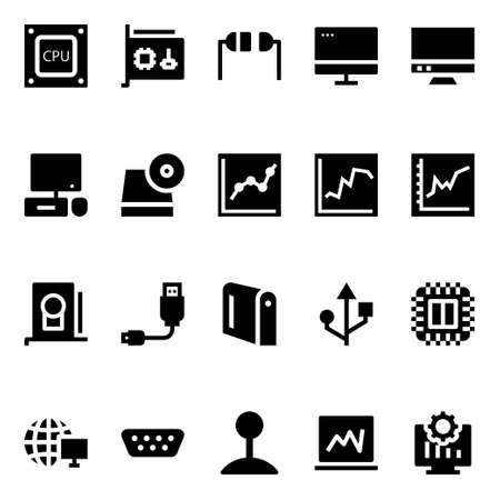 Glyph icons for computer hardware.