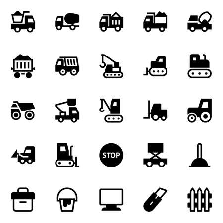Glyph icons for construction.