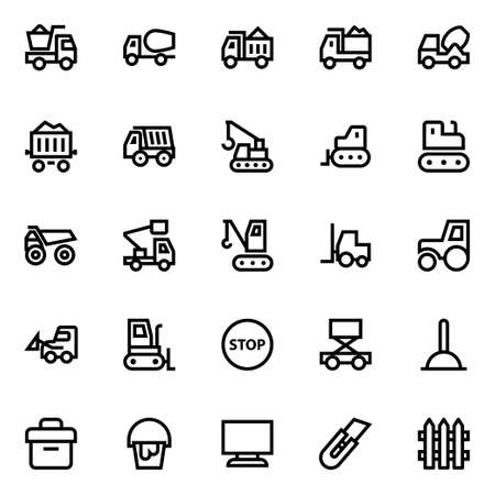 Outline icons for construction.