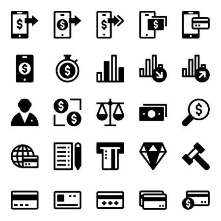 Glyph icons for credit card payments.