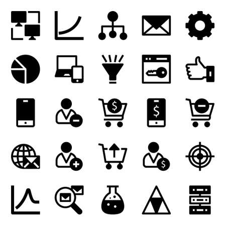 Glyph icons for data analytics.