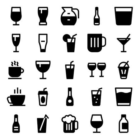 Glyph icons for drink.