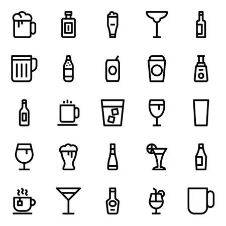 Outline icons for drink.