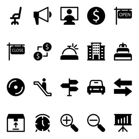 Glyph icons for e-commerce.