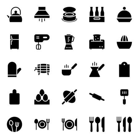 Glyph icons for food.
