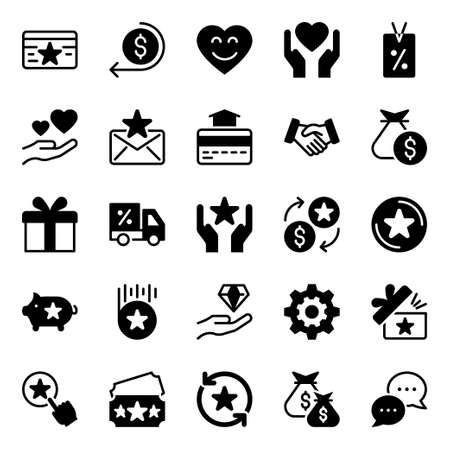 Glyph icons for loyalty.