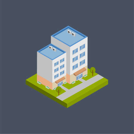 Architecture building - 3d isometric.